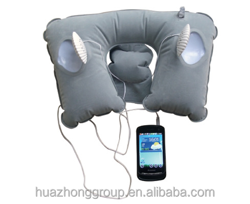 Foldable Air Filled U Shape Travel Inflatable Music Pillows