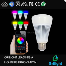 alibaba express china E27 8W bluetooth smart led bulb light