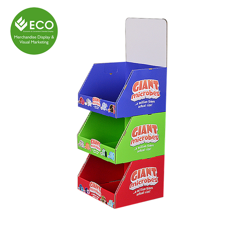 China Manufacture Wholesale 3 Tier Cardboard Book Counter Display