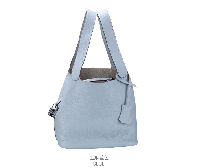 Latest designer fashion lichee leather bucket bag for ladies