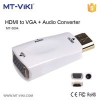MT-3004 mini hdmi converter 50hz 60hz hdmi to vga r l audio hdmi to vga converter
