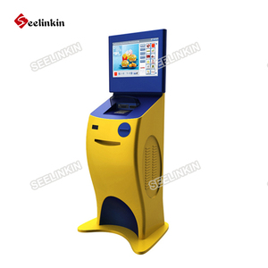 Modern design digital android touch kiosk with dual screen for shopping mall