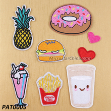 DIY Embroidery Applique iron on patches Foods Clothes Patches