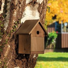 pet supply Garden Bird Nesting House with Apex Roof 28 or 32mm Hole or Open Fronted
