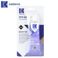 KRONYO rtv auto glass heat resistant Black sealant silicone glue