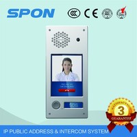 7 inch TFT LCD Color wired color video door monitor with intercom system