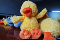 Plush Big Yellow Duck Toy Christmas Theme Rubber Ducks/Custom Animal Plush Toys For Crane Machines