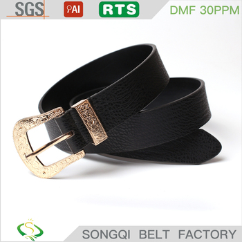 2017new design fashion pu belt womens flat belt