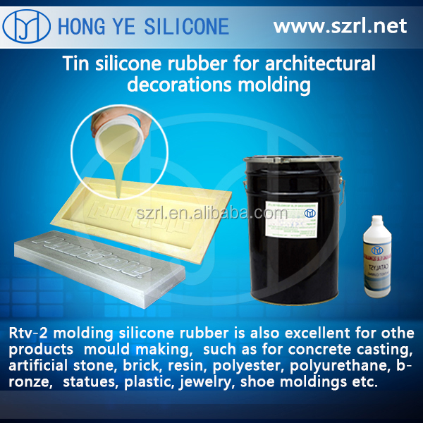 RTV silicone rubber for decorative garden culture stone