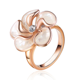 Crystal Flower Rings for Women Gold Rings Designs