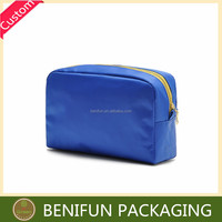 Recycled convenient waterproof pp non woven polyester cosmetic bag promotional