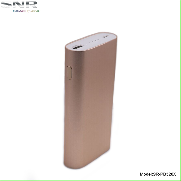 unique style aluminum case power bank fashion design portable quick charger for iPad