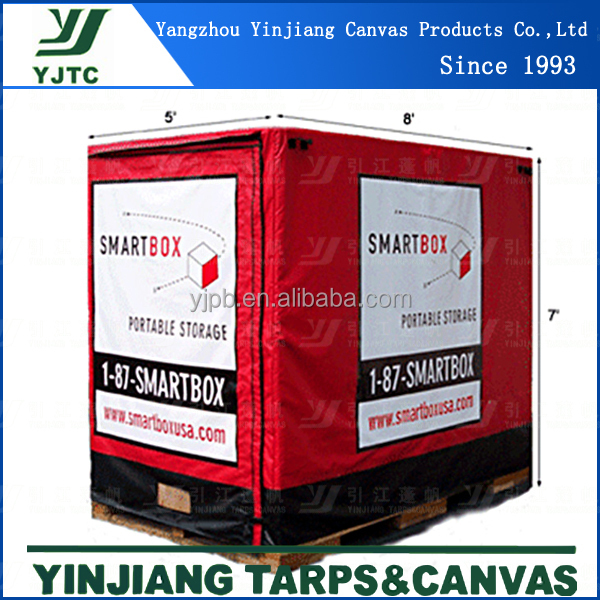 Fire Retardant &Waterproof PVC Pallet Cover,printed pallet covers