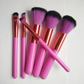 2017 newest 6pcs purple color makeup brushes with low price