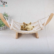 Wooden Bottom Breathable Cat Hammock Detachable Cat Hanging Bed