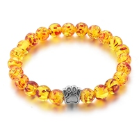 High quality baltic amber stone bracelet