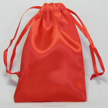 Alibaba 3*5 inch cheap promotion red stain drawstring pouch wholesale.