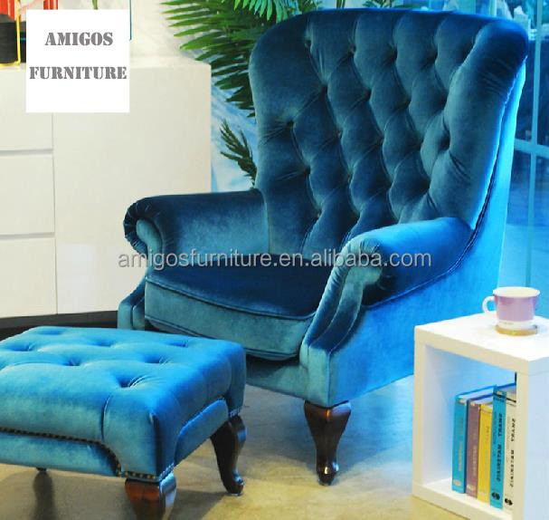 Nice Velvet Hotel Chair, Fabric Wingback Chair
