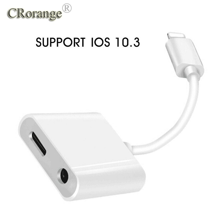 2 in 1 Adapter Splitter to 3.5mm Headphone Earphone Jack Aux Audio cable for iPhone 7 7 plus