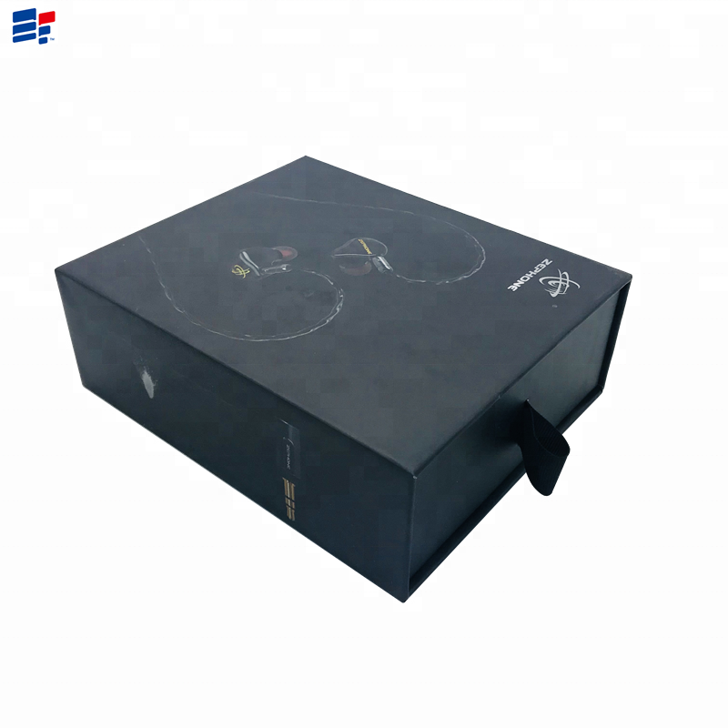 Recycle paper drawer custom electronic products packaging <strong>box</strong> with drawer