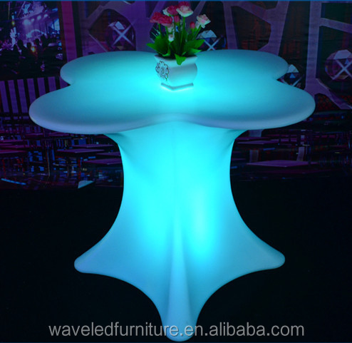 Colorful clear acrylic LED table and chairs sets for sale direct selling