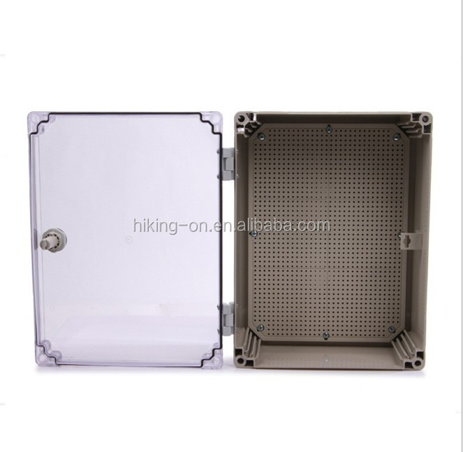 Factory price engineering plastic electronic enclosure /Junction Box With PC Clear Cover HPE179