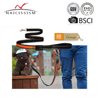customized design USB Rechargeable LED dog running leash