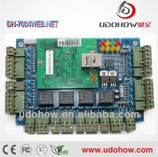 TCP/IP rs485 4 door wiegand web access control board DH-7004Net. Web