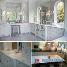 White marble kitchen & bar counter top,marble top dining laminated table