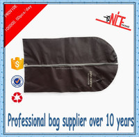 personalized non-woven foldable brown garment clothes bag for suit,suit garment bag