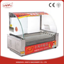 Chuangyu Online Shop China 7 Roller Easy Clean Hot Dog Tricycle For Hot Dog Machine With Push Door