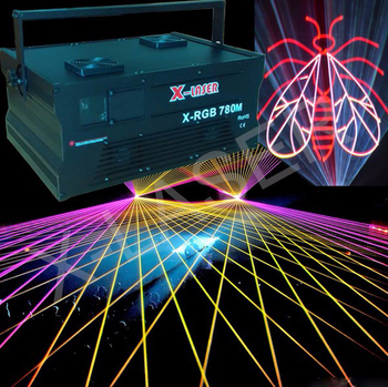 8w rgb laser stage lighting projector/laser fog light/outdoor laser projector