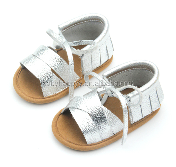 New style crib shoes summer shoes leather baby sandal