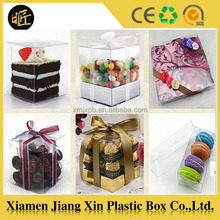 Clear plastic mini cupcake boxes packaging, transparent souvenir plastic packaging box