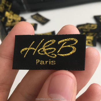 2017 Custom high quality Low price Woven Clothing Label