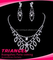 Popular Earring and Necklace Wedding Jewelry Set