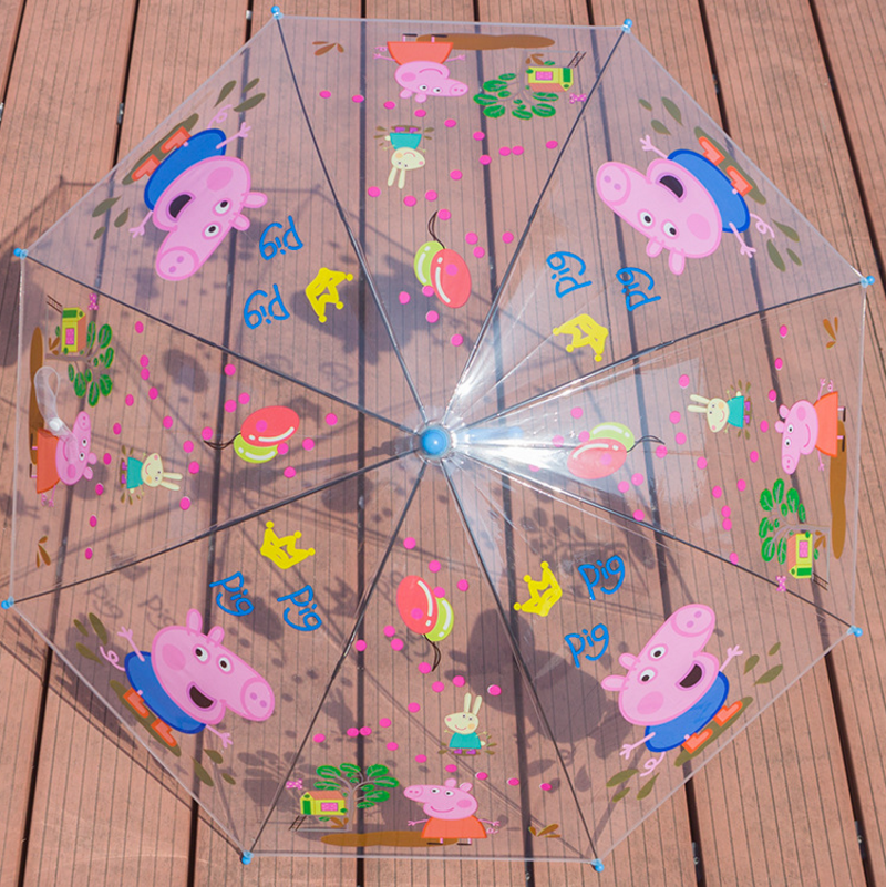 Peppa Pig Cartoon Primary School Students Transparent Children Umbrella