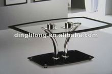 stylish design tempered glass top add glass base coffee table
