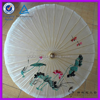 the good quality Chinese oil paper umbrella with printed picture