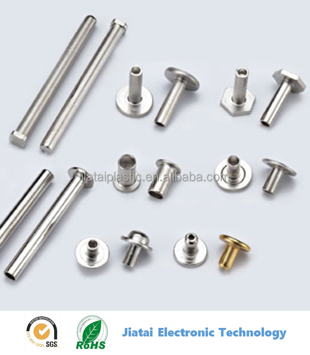 snap head stainless steel/copper/aluminum Semi Tubular Half Hollow Rivets