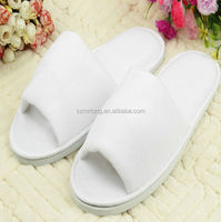 Top Quality Dense Velvet Hotel Slipper with Open Toe