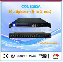 tv and radio station equipment for sale,Mpeg 2 Ts multiplexer,video multiplexer,2 channel satellite tv multiplexer COL5282A
