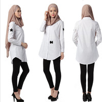 2016 White Malaysia Blouse Casual Dress Jubah Blouse M,L,XL