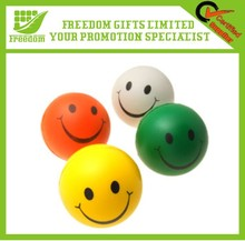 Hot Sale Yellow PU Smiley Face Stress Ball