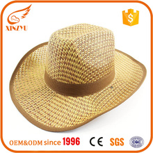 Custom printted logo straw farmer doll hats