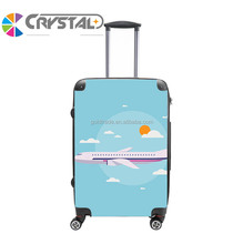 Customized Design 2017 ABS PC kids luggage travel plane kids luggage cheap cute luggage
