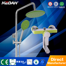 Hot and cold water mixer shower fitting a mix chrome bathroom shower set bath rain shower set