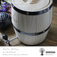 HONGDAO custom-made oak rum barrels for sale, whiskey wood barrel