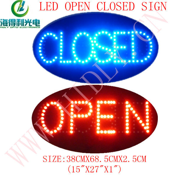 Super cheap high quality outdoor double sided led sign open and closed sign