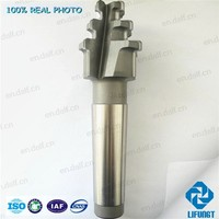 Fir tree fine-milling cutter for steam turbine blade root
